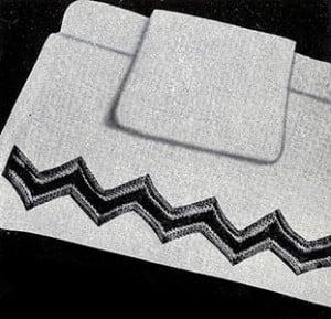 Roman Stripe Band Motif #8105 ~ Free Vintage Crochet