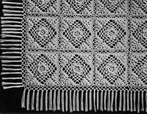 Irish Crochet and Popcorn Bedspread #60 ~ Free Vintage Crochet