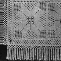 Eight Section Star Block Bedspread #611 ~ Free Vintage Crochet