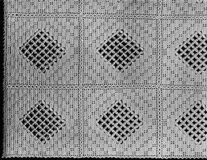 Crossbar Bedspread #616 ~ Free Vintage Crochet