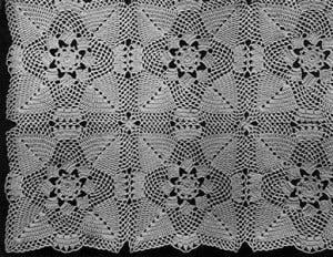 Pine Cone Bedspread #65 ~ Free Vintage Crochet
