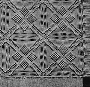 Popcorn Trail Bedspread #612 ~ Free Vintage Crochet