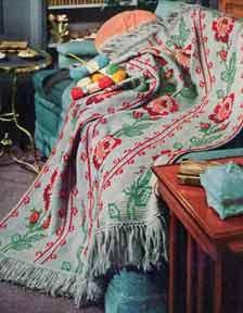 American Rose Afghan ~ Free Vintage Crochet