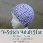 V-Stitch Hat by Cream Of The Crop Crochet for CrochetN'Crafts