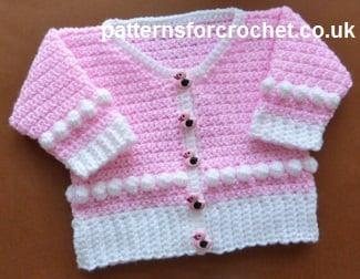Easy Crochet Baby Afghan Free Patterns : Scoop Neck Cardigan ~ FREE Crochet Pattern