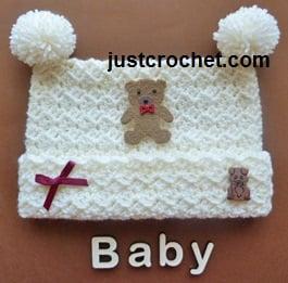 Pom Pom Hat ~ JustCrochet