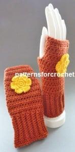 Fingerless Gloves ~ Patterns For Crochet