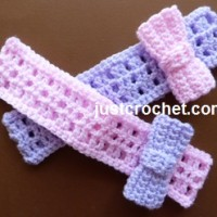 Headband with a Bow ~ JustCrochet