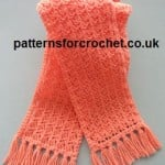 Tasseled Scarf ~ Patterns For Crochet