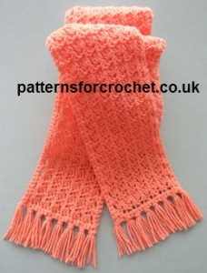 Tasseled Scarf ~ Patterns For Crochet
