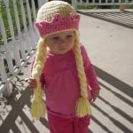 Princess Hat with Braids and Crown ~ Stitch11