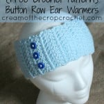 Button Row Ear Warmers ~ Cream Of The Crop Crochet