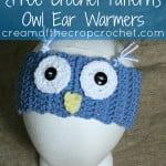Owl Ear Warmers ~ Cream Of The Crop Crochet