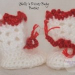 Shells 'N Picots Baby Booties ~ Home Made Hats by Cheryl