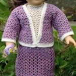 American Girl Doll Crochet English Garden Suit ~ ABC Knitting Patterns