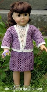 American Girl Doll Crochet English Garden Suit ~ ABC Knitting Patterns