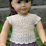 American Girl Doll Elegant Summer Blouse ~ ABC Knitting Patterns