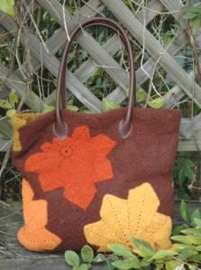 Chestnut Leaf Bag ~ ABC Knitting Patterns