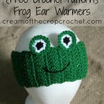 Frog Ear Warmers ~ Cream Of The Crop Crochet