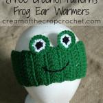 Frog Ear Warmers ~ Cream Of The Crop Crochet