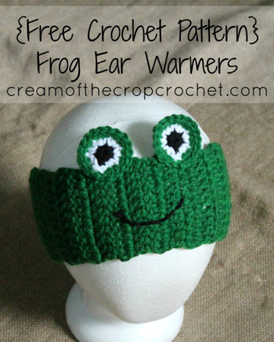 Free Crochet Ear Warmer Patterns For Adults : Frog Ear Warmers ~ FREE Crochet Pattern