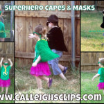 Super Hero Capes and Masks ~ Elisabeth Spivey - Calleigh's Clips & Crochet Creations