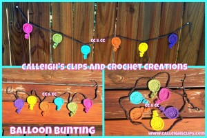 Balloon Bunting ~ Elisabeth Spivey - Calleigh's Clips & Crochet Creations