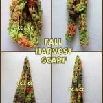 Fall Harvest Infinity Scarf ~ Elisabeth Spivey - Calleigh's Clips & Crochet Creations