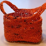 Orange Plarn Trick or Treat Bag ~ My Recycled Bags