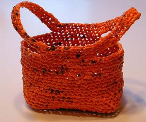 Orange Plarn Trick or Treat Bag ~ My Recycled Bags