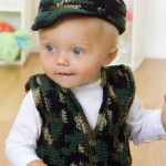 Vest and Hat ~ Karla Hastings – Baby's Gone Hunting – Red Heart