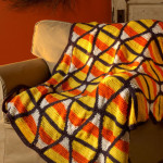 Candy Corn Throw ~ Marianne Forrestal - Red Heart