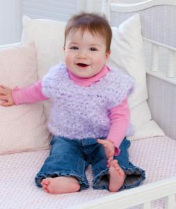 Warm and Happy Crochet Vest ~ Darla J. Fanton - Red Heart