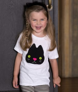 Boo Kitty Applique ~ Nancy Anderson - Red Heart