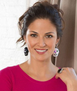 Day of the Dead Earrings ~ Andee Graves - Red Heart