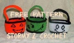 Halloween Treat Baskets ~ Stormy'z Crochet