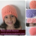 Bean Stitch Beanie ~ Meladora's Creations