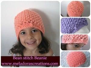 Bean Stitch Beanie ~ Meladora's Creations