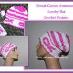 Breast Cancer Awareness Slouchy Hat ~ Sara Sach - Posh Pooch Designs