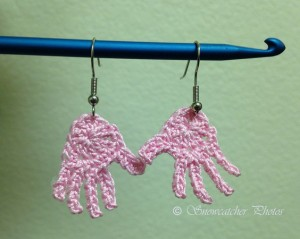 Pink Gloved Hands ~ Snowcatcher