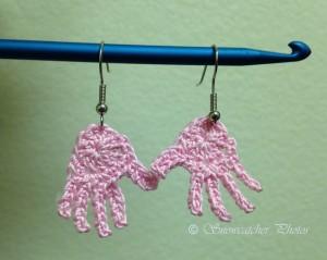 Pink Gloved Hands ~ Snowcatcher