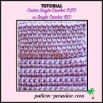Center Single Crochet vs. Single Crochet ~ Pattern Paradise