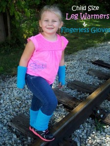 Child Size Leg Warmers and Fingerless Gloves ~ Stitch11
