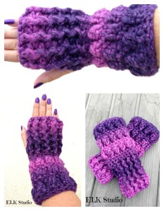 Fingerless Mitts ~ Kathy Lashley - ELK Studio