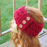 Angelina Ear Warmer ~ Crochet Dreamz