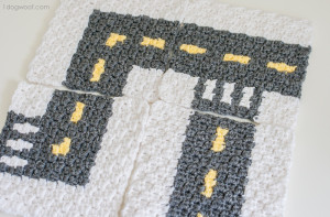 CityStreets Mapghan Squares ~ One Dog Woof