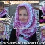Candy Stripes Hooded Cowl ~ Elisabeth Spivey – Calleigh's Clips & Crochet Creations