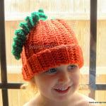 Adult Pumpkin Hat ~ Swirls and Sprinkles