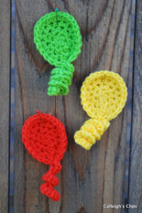 Balloon Applique ~ Elisabeth Spivey - Calleigh's Clips & Crochet Creations