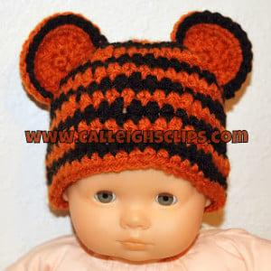 Preemie Tiger Cub Hat ~ Elisabeth Spivey - Calleigh's Clips & Crochet Creations